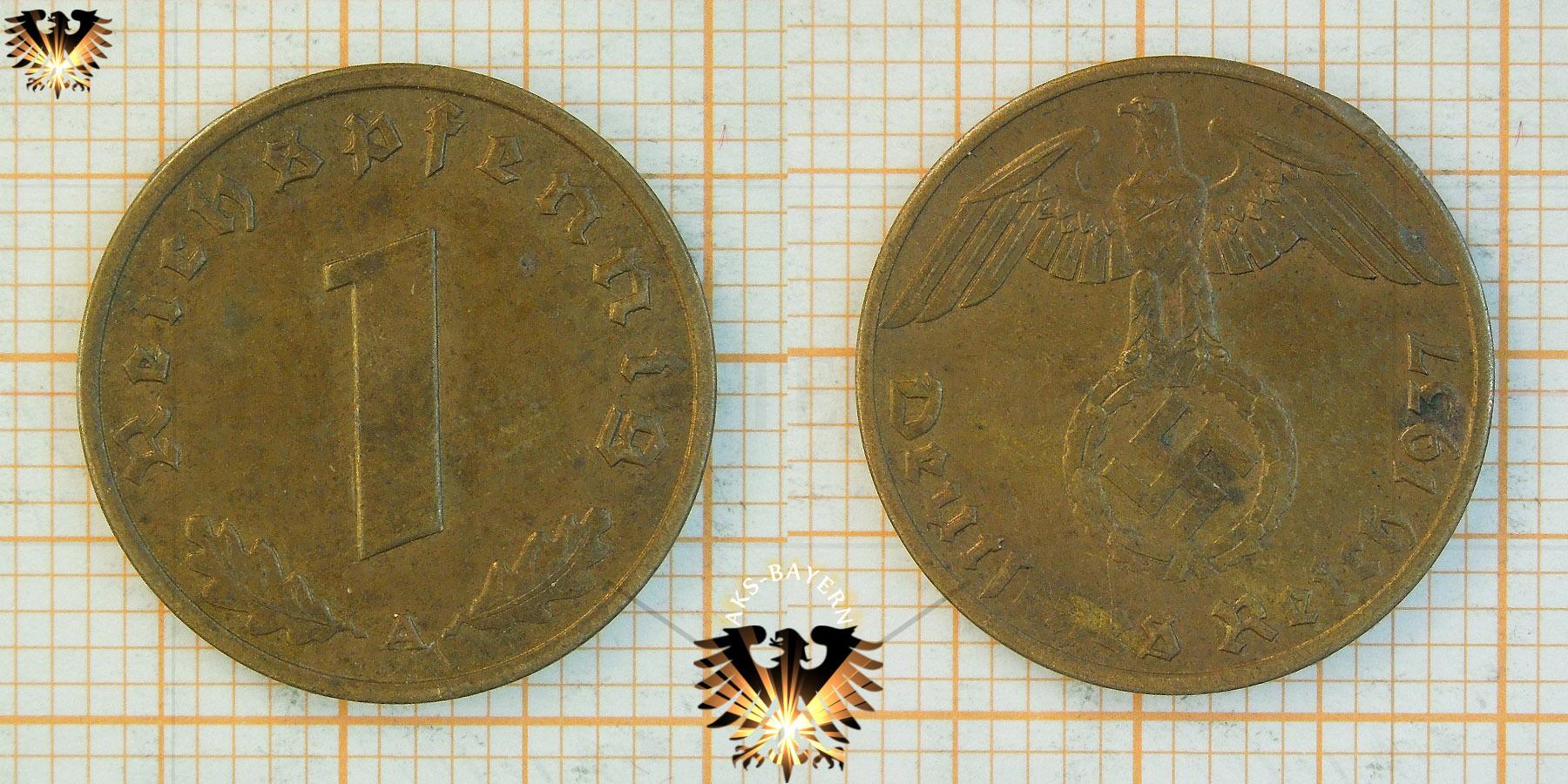 1 Reichspfennig 1937 Deutsches Reich Iii Reich