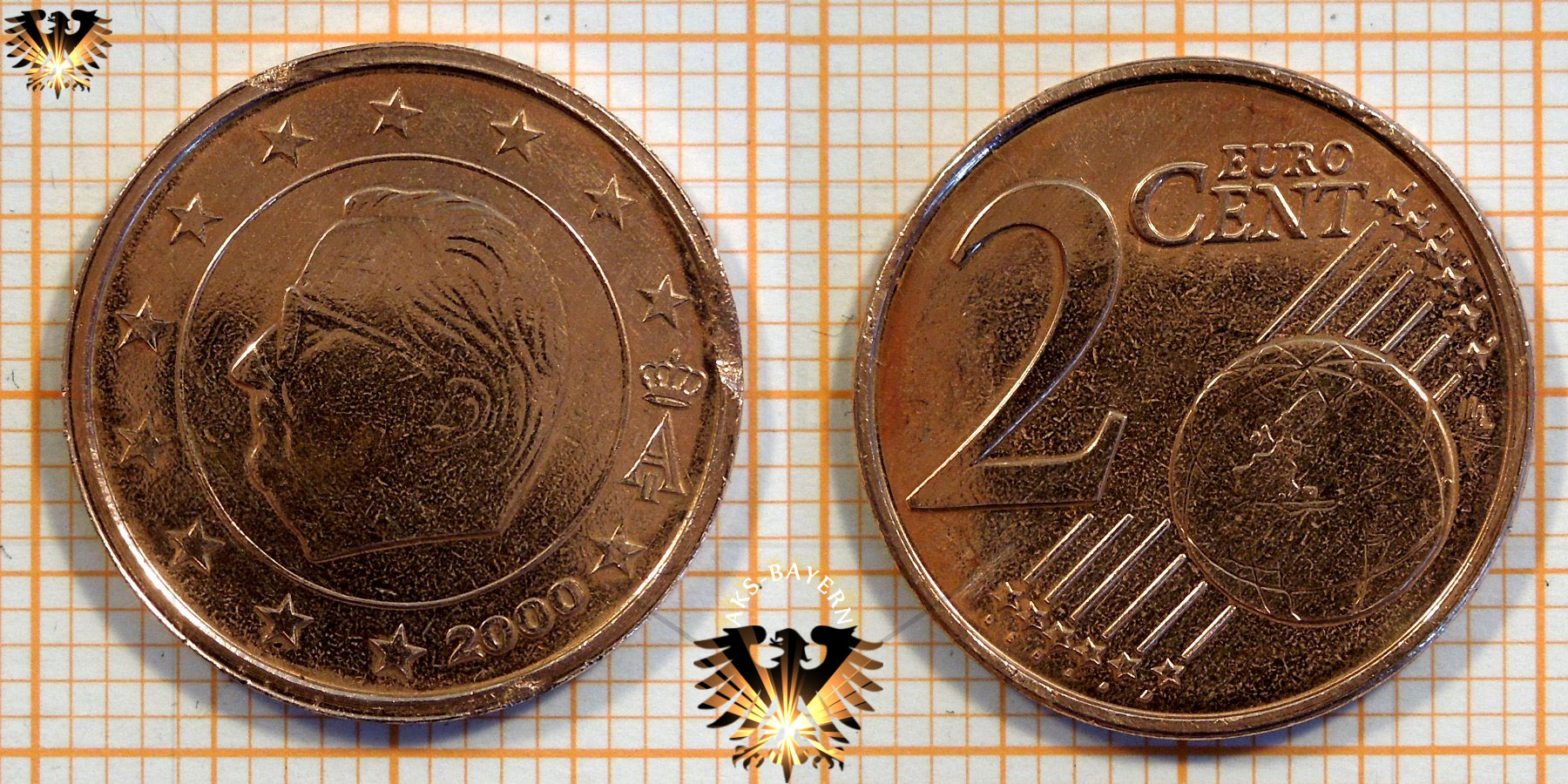 2 Euro Cent Belgien 2000 Nominal