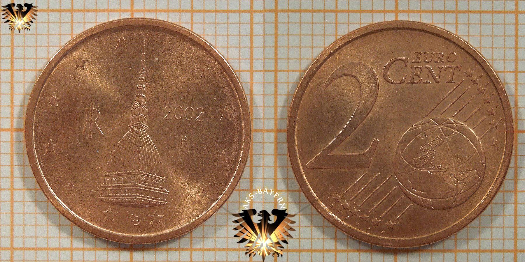 2 Euro Cent Italien 2002 Nominal