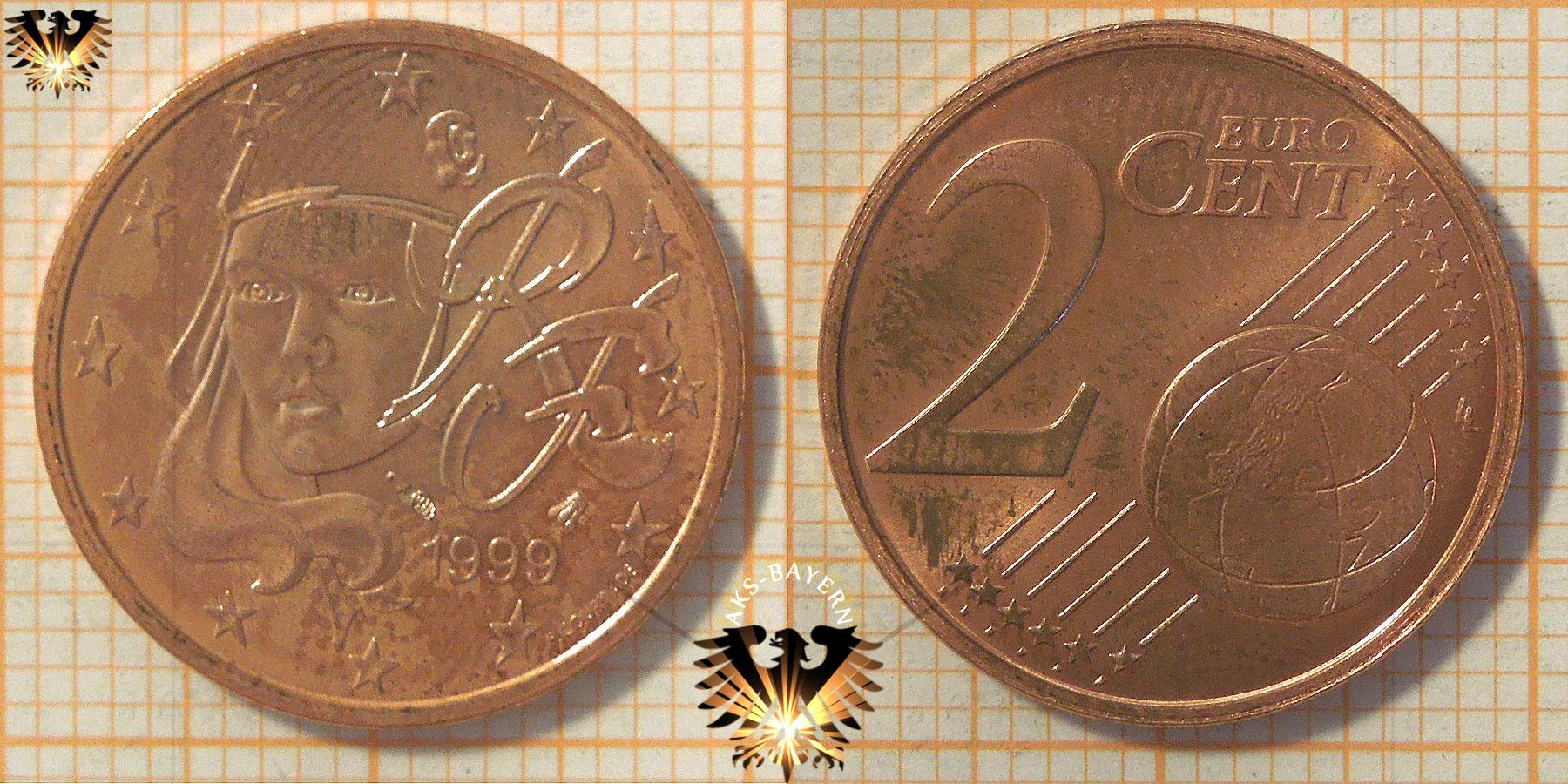 2 Euro Cent Frankreich 1999 Nominal