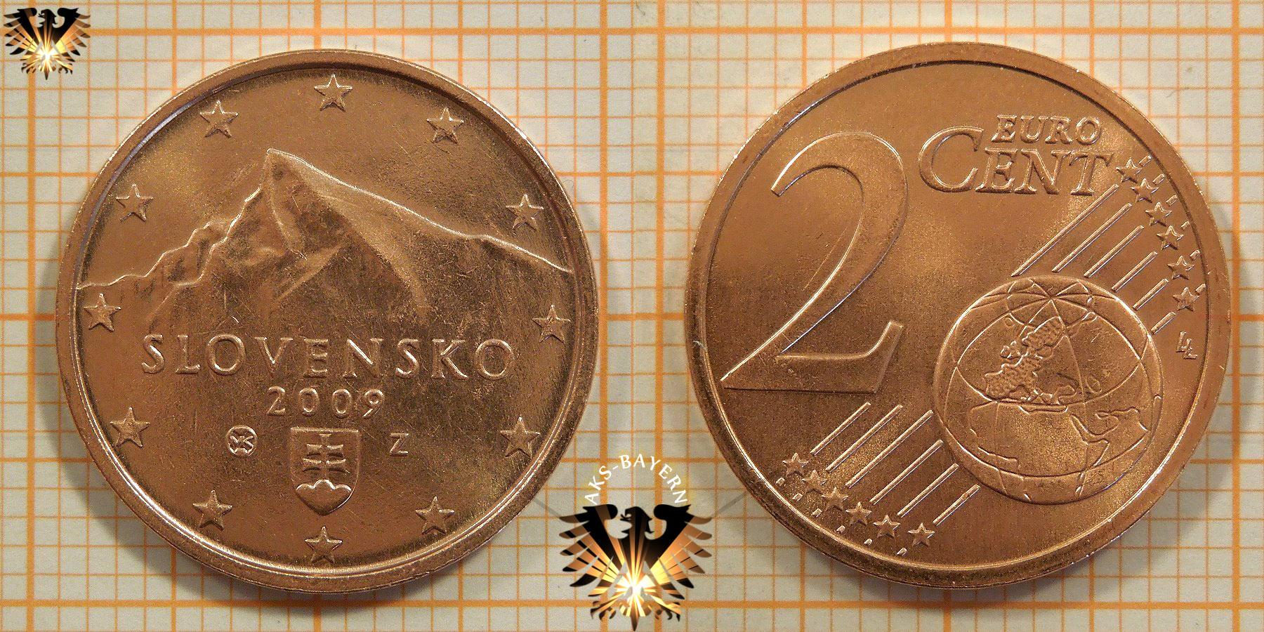 2 Euro Cent Slowakei 2009 Nominal