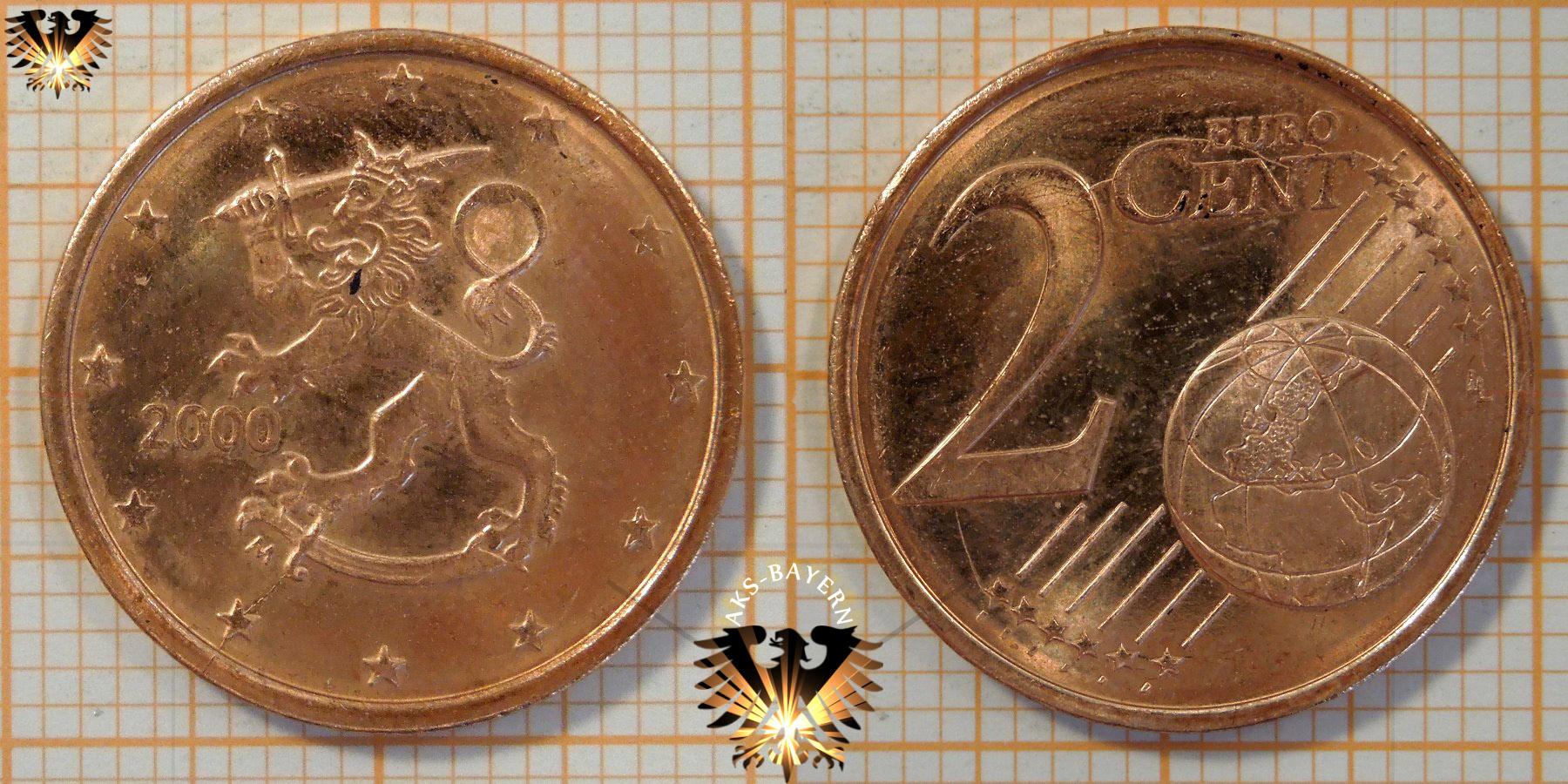 2 Euro Cent Finnland 2000 Nominal