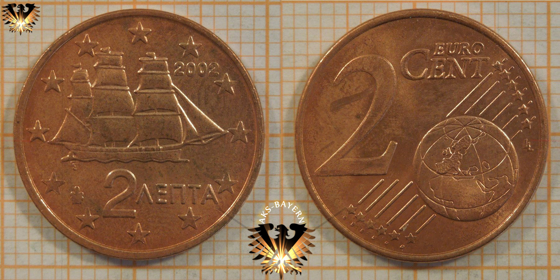 2 euro cent griechenland 2002 nominal. Black Bedroom Furniture Sets. Home Design Ideas