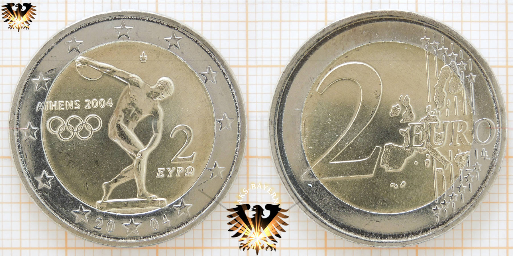 2 Euro Münze Olympia 2004 Wert