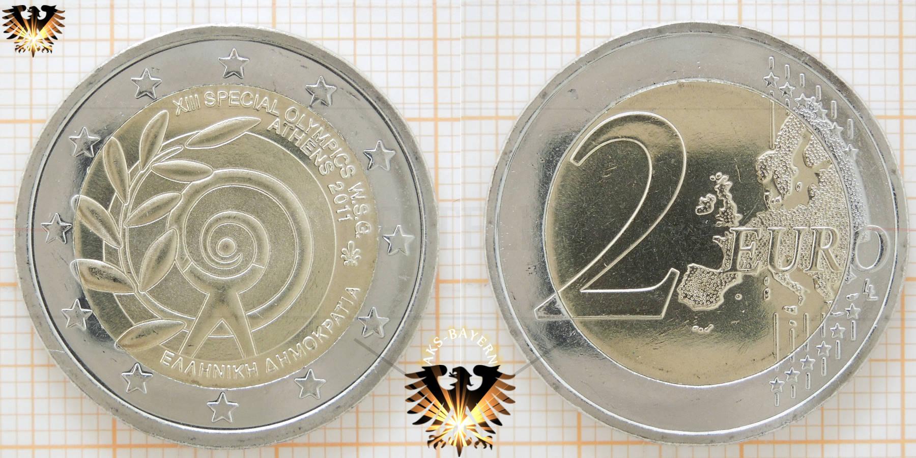 2 Euro Griechenland 2011 Gedenkmünze Xiii Olympische Spiele In Athen