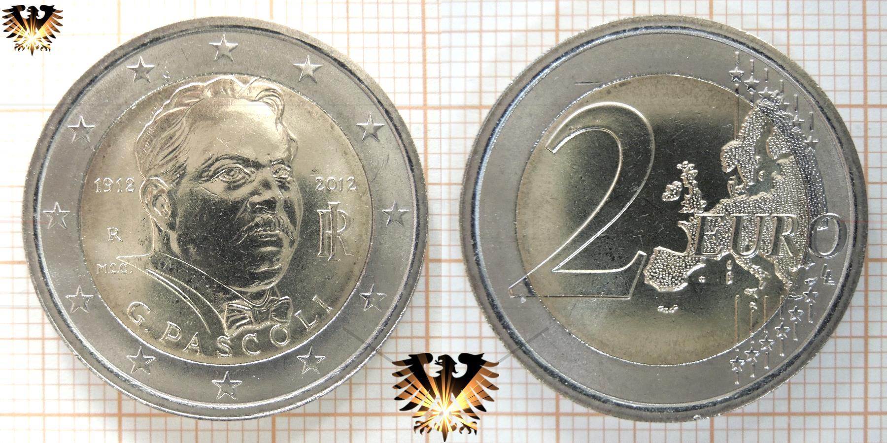 2 Euro Münze Italien 2012 Gedenkmünze G Pascoli