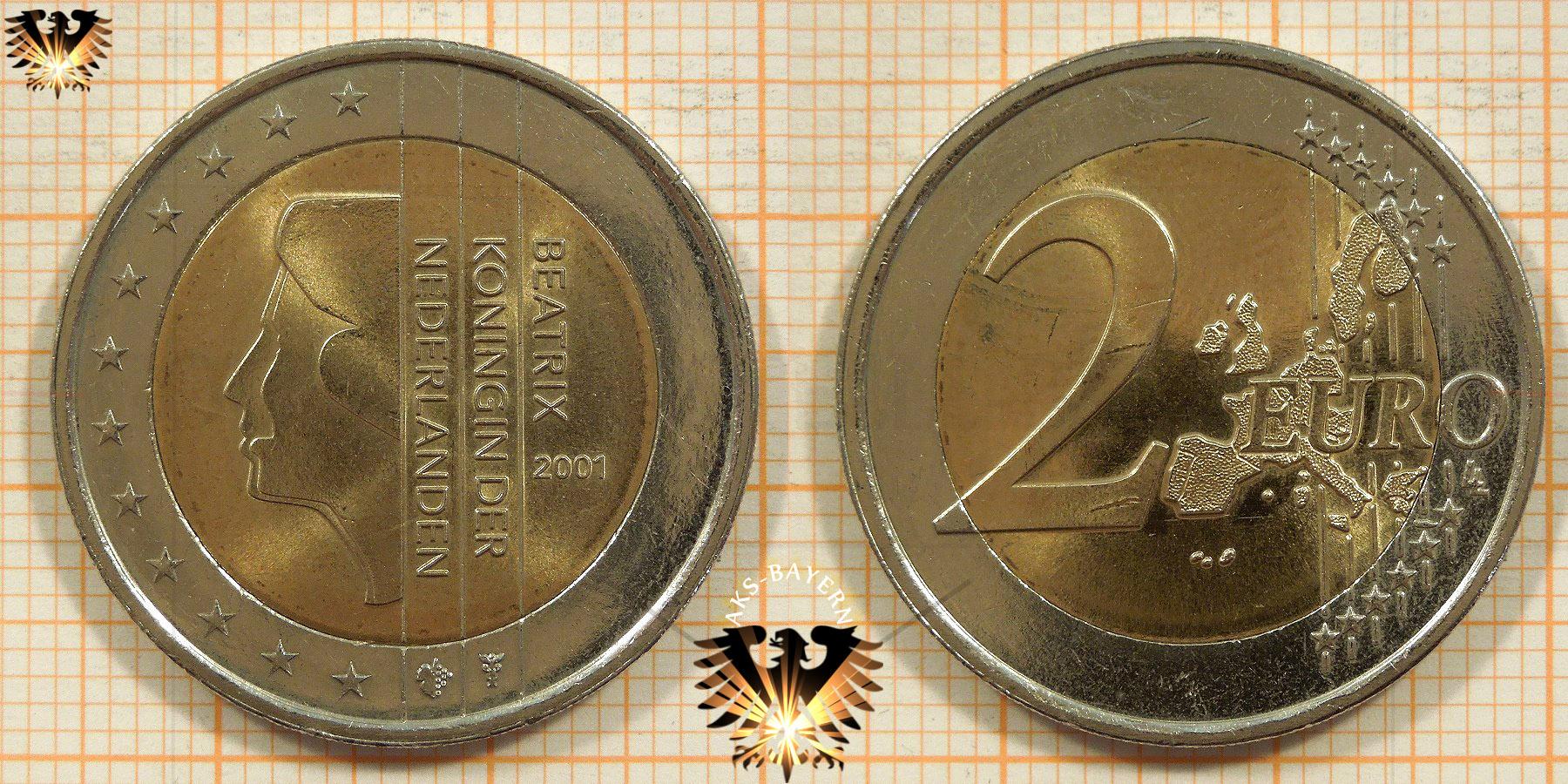 2 Euro Niederlande 2001 Nominal