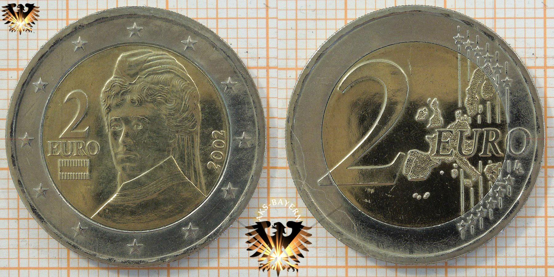 1 Euro österreich 2002 Mozart Nominal Geld Münze
