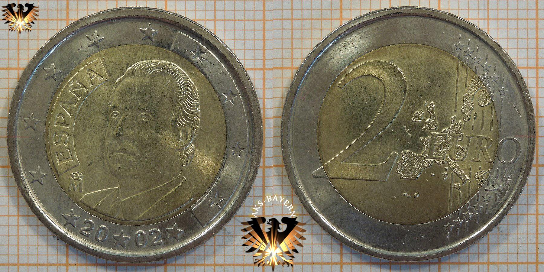 2 Euro Spanien 2002 Nominal