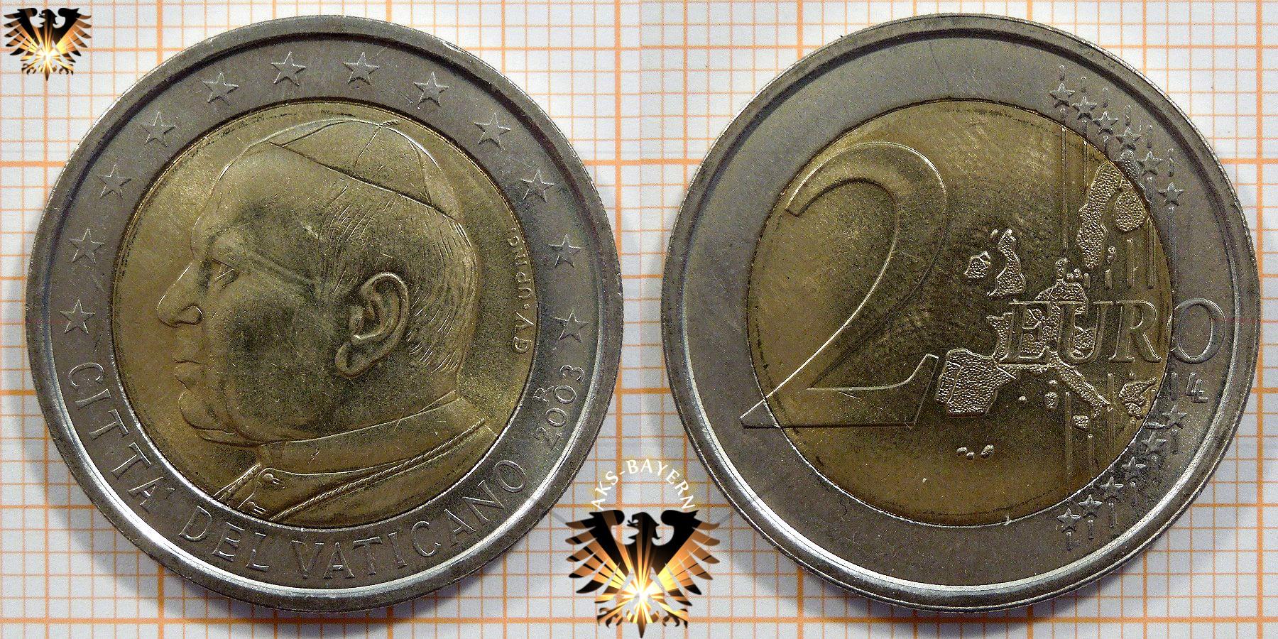 2 Euro Münze Vatikanstadt 2002 2005 Geldmünze