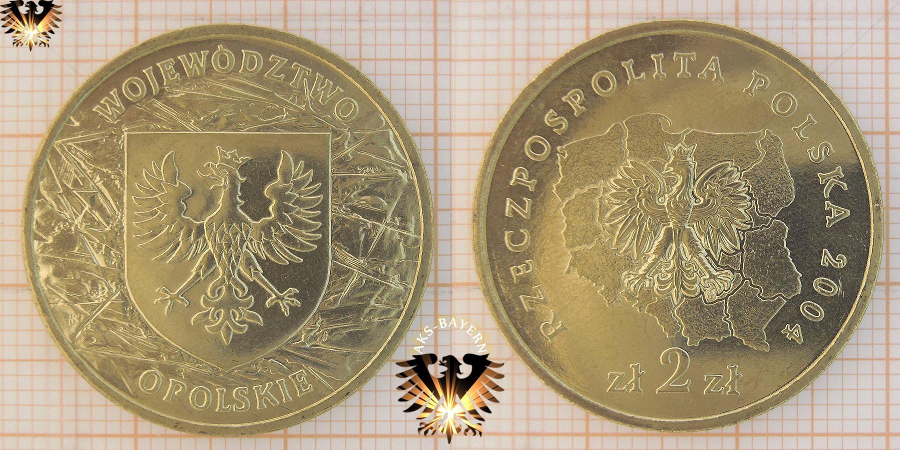 Münze 2 Złote Polen 2004 Wojewodztwo Opolskie Oppeln