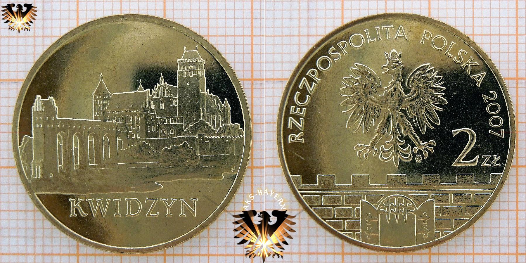 Münze 2 Złote Polen 2007 Kwidzyn Marienwerder