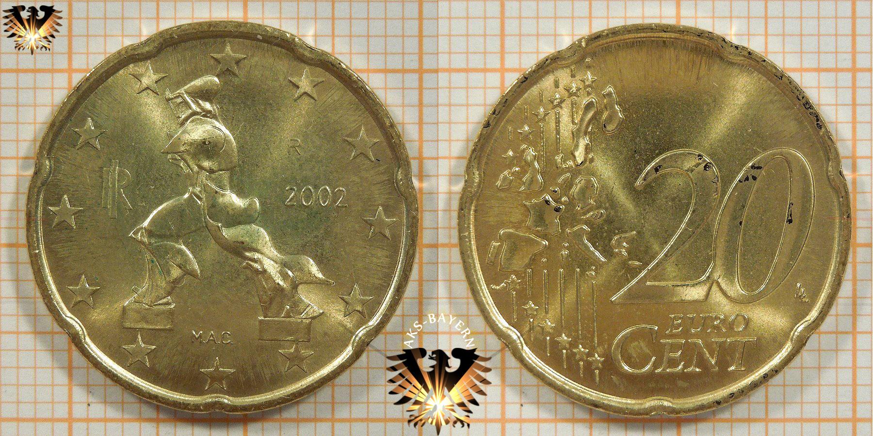 20 Euro Cent Italien 2002 Nominal