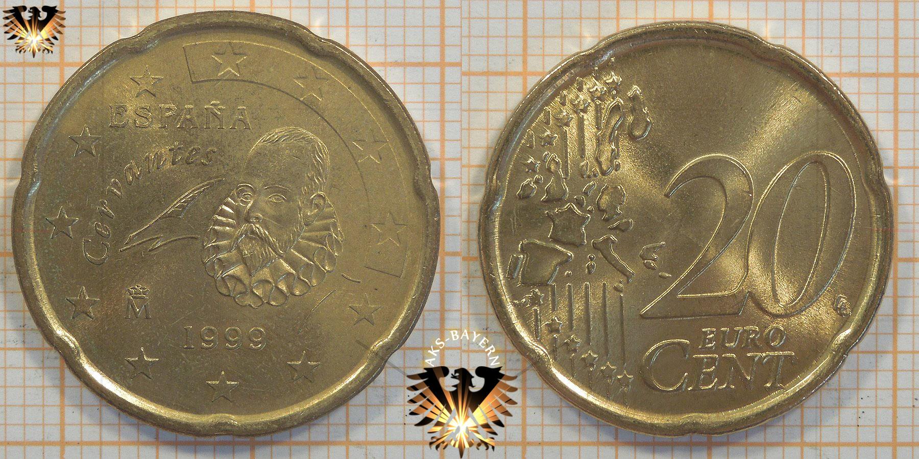 20 Euro Cent Spanien 1999 Nominal