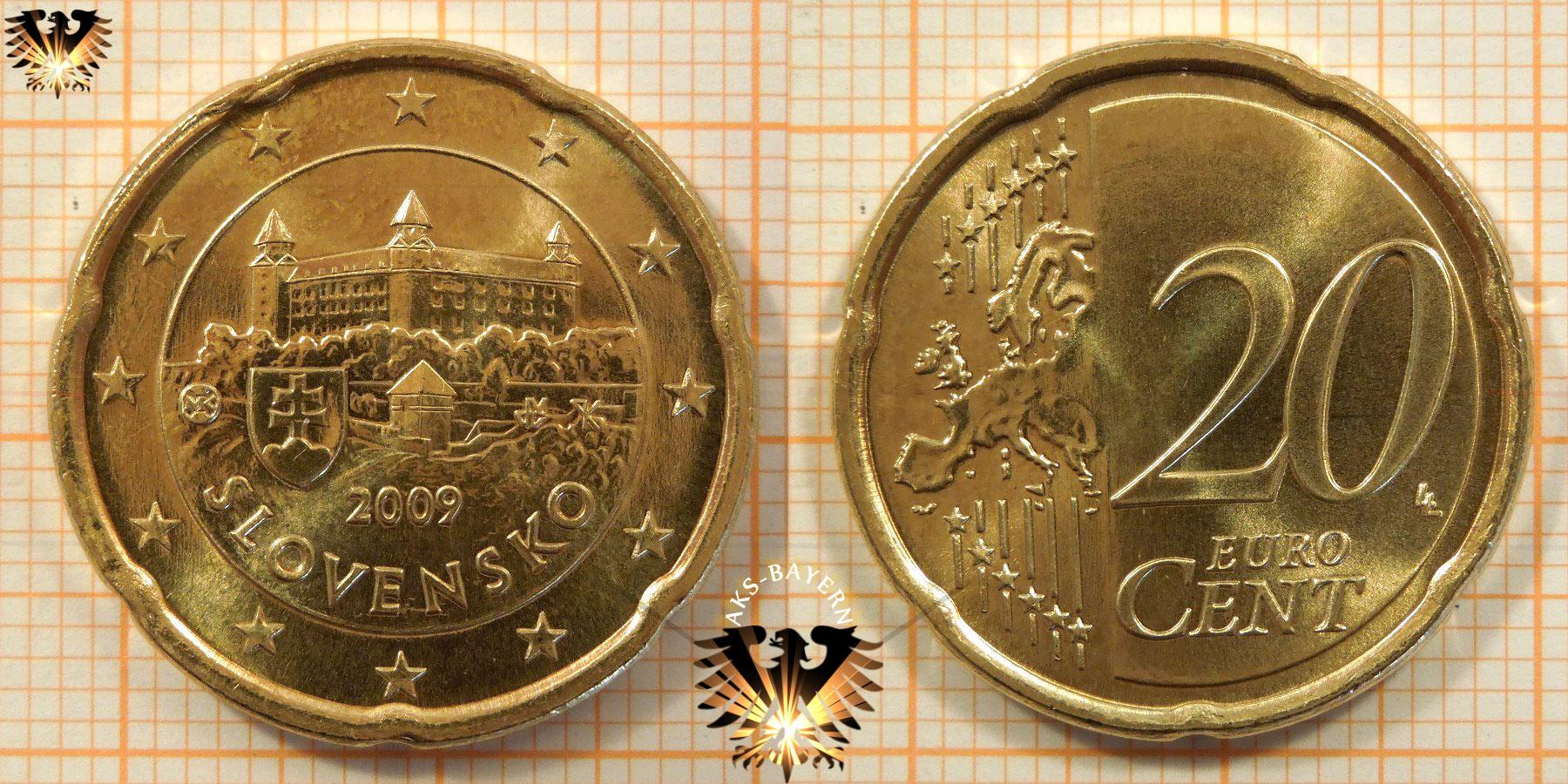 20 Euro Cent Slowakei 2009 Nominal