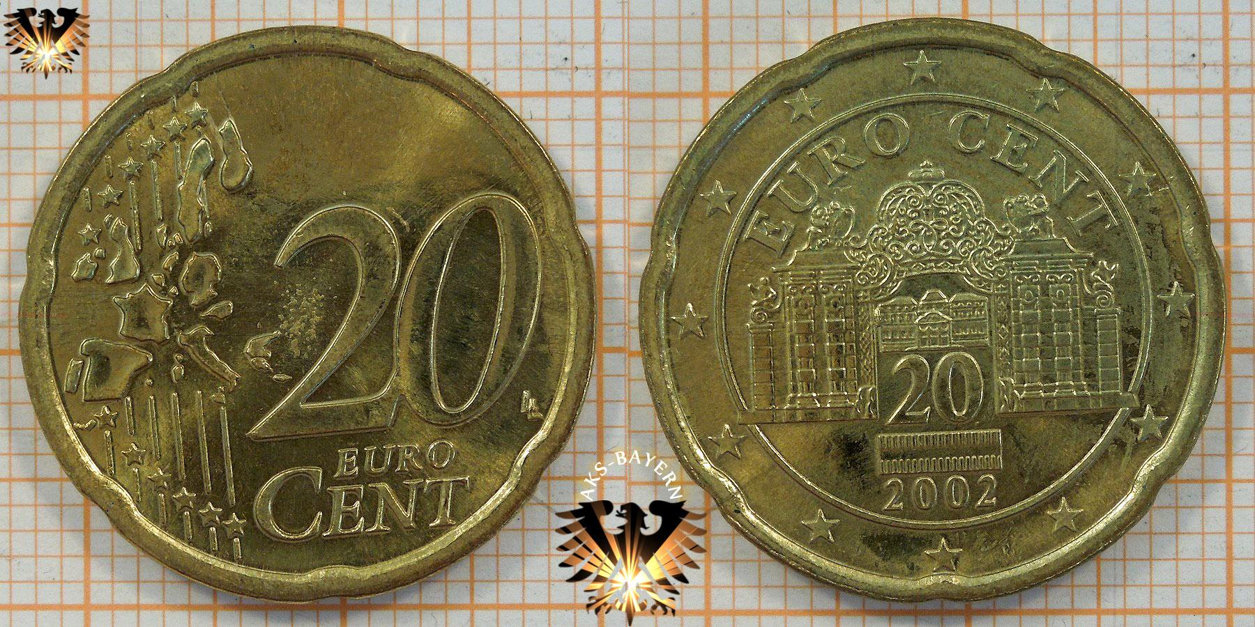 20 Euro Cent österrreich 2002 Nominal