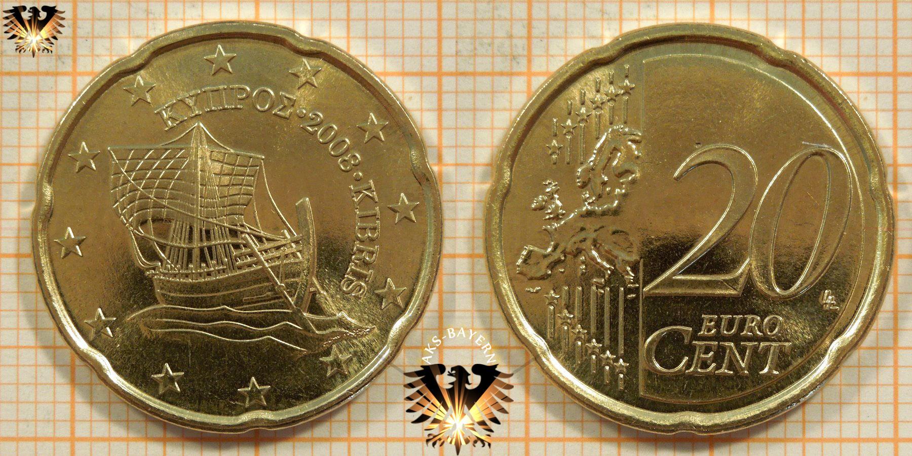 20 Euro Cent Zypern 2008 Nominal