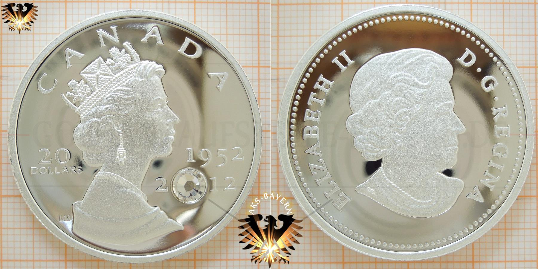 20 Dollars, Canada, 2012, Elizabeth II, The Queen´s Diamond Jubilee, 1952-2012 © goldankaufstelle-bayern.de