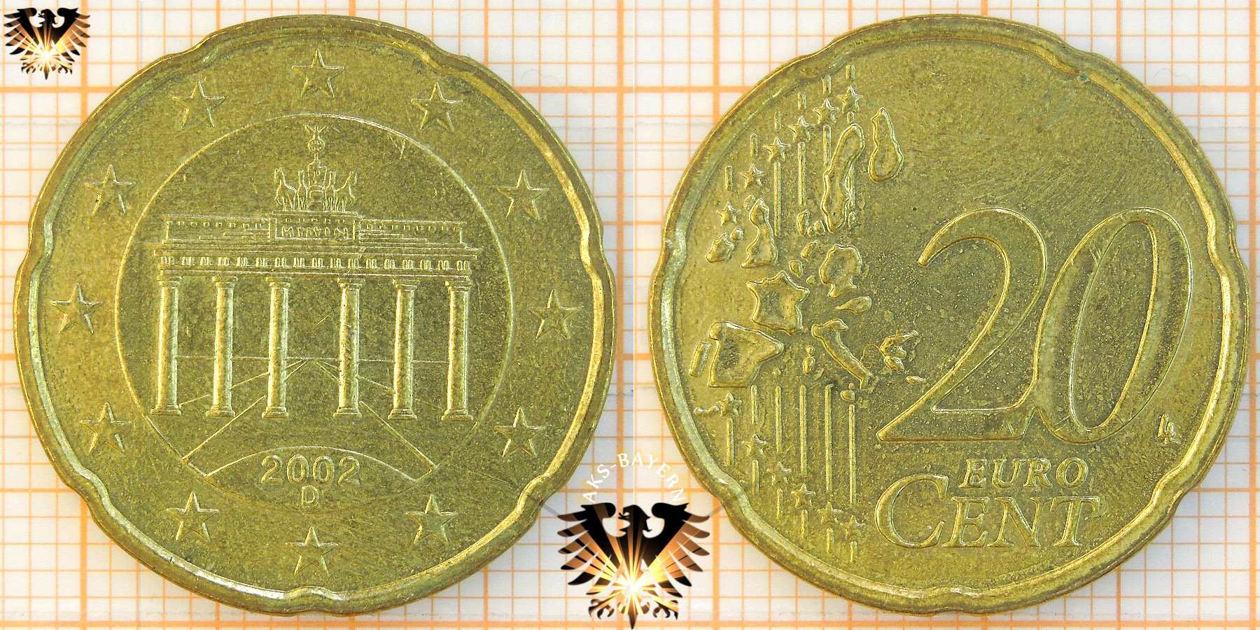 20 Cent Brd 2002 D Nominal Eurocent