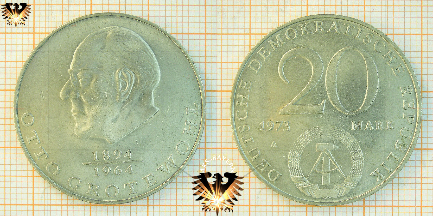 20 Mark Ddr 1973 Otto Grotewohl 1894 1964