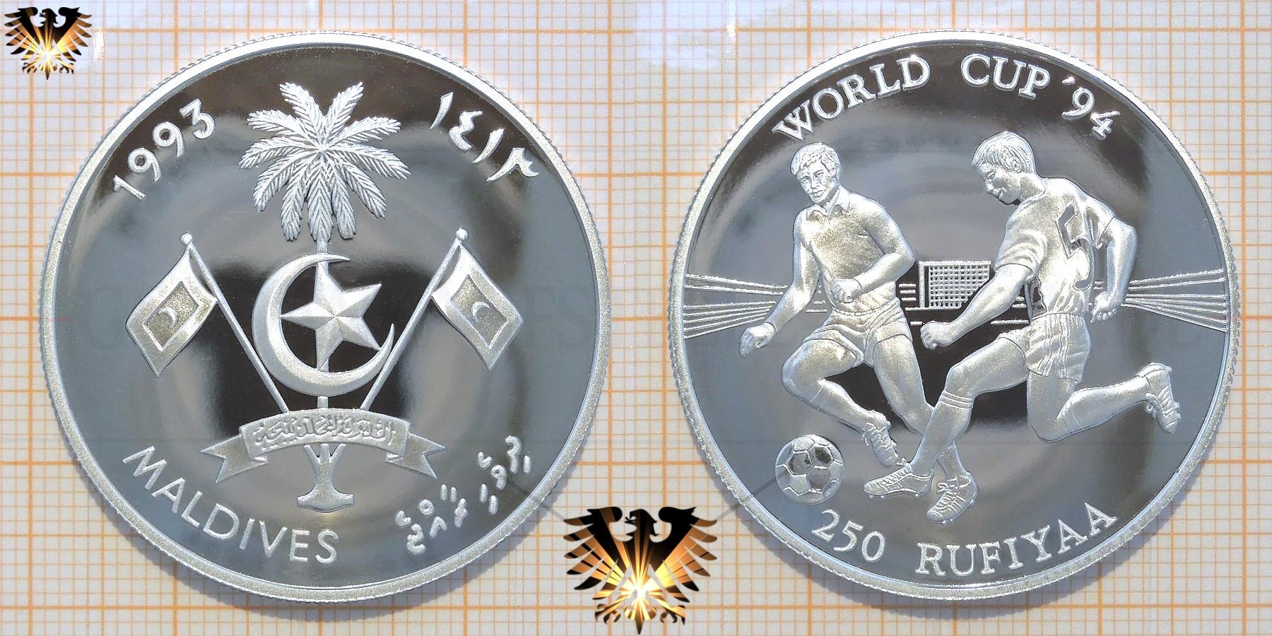 Zweikampf Silbermünze Fußball Wm 1994 Usa 10 Yuan China 1993