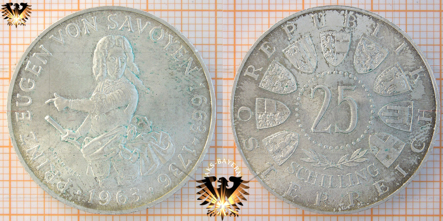25 Schilling 1957 Mariazell 1157 1957 österreich Silbermünze