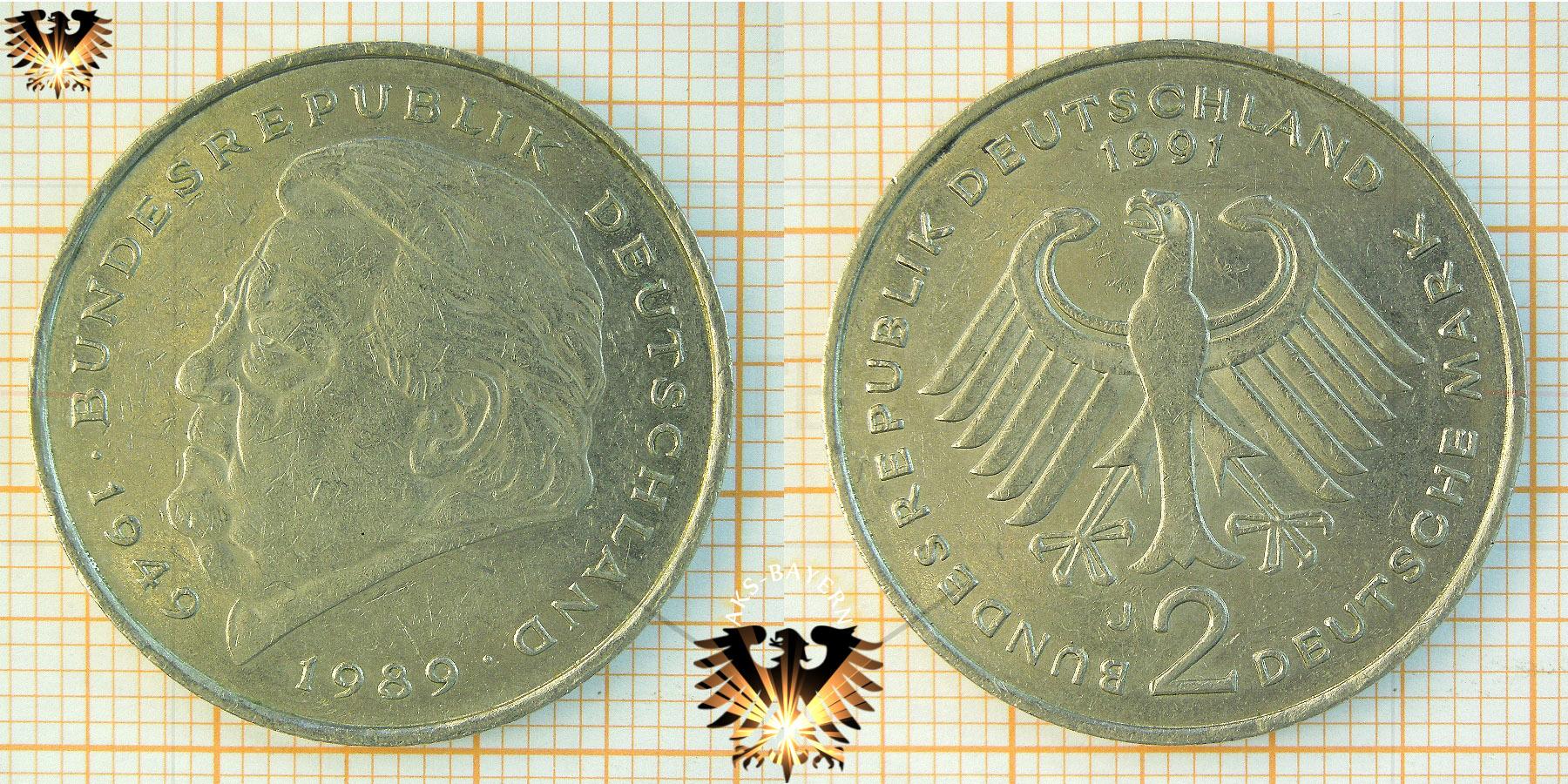 2 Dm Brd Franz Josef Strauß 1949 Bundesrepublik Deutschland 1989