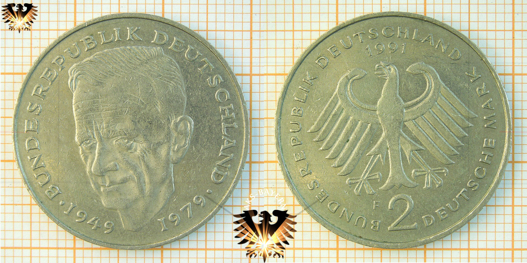 2 Dm Brd Dr Kurt Schumacher 1949 Bundesrepublik Deutschland 1979