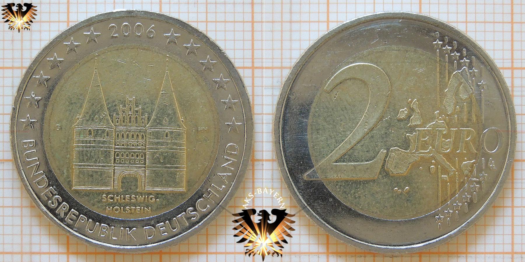 2 Brd 2006 Gedenkmünze Bundesländer Schleswig Holstein Holstentor