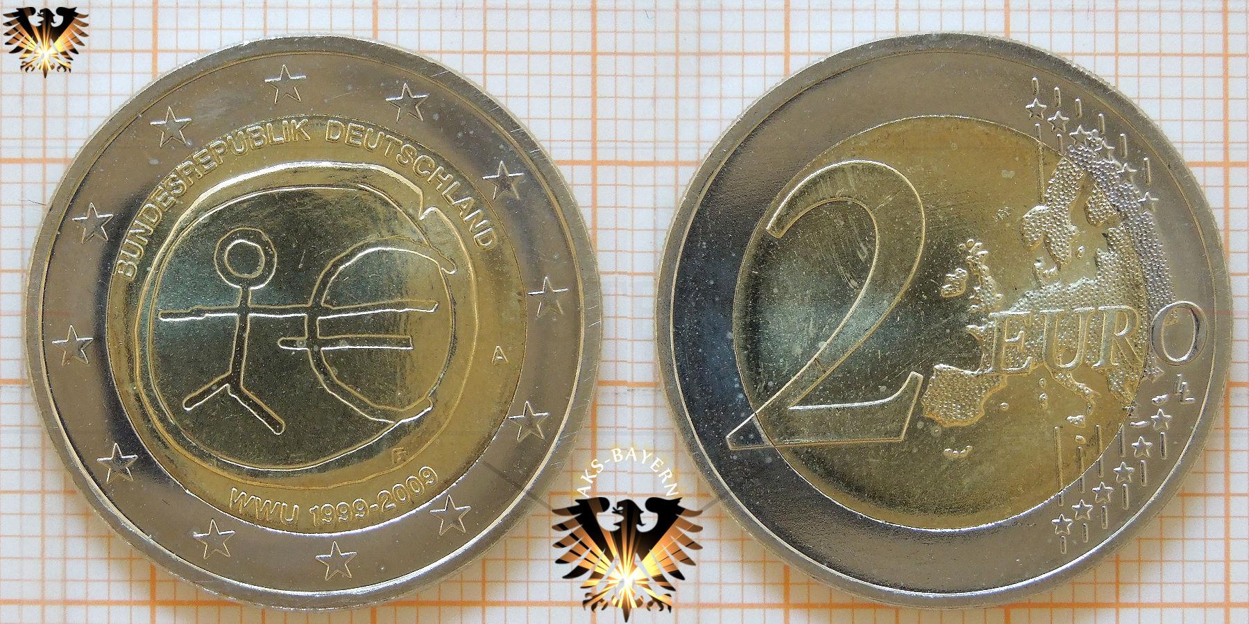 2 Brd 2009 A D F G J Gedenkmünze 10 Jahre Europäische