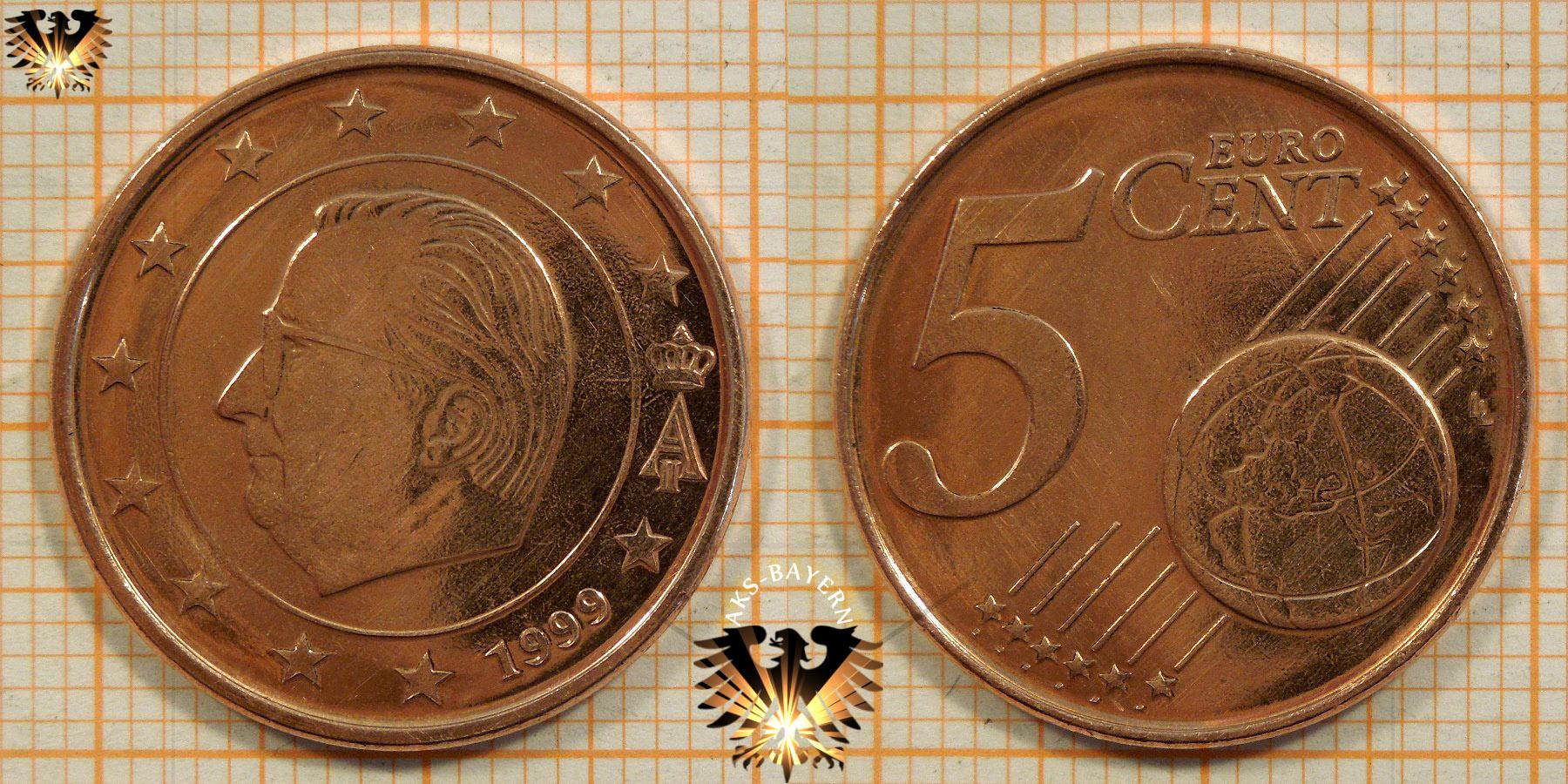 5 Euro Cent Belgien 1999 Nominal