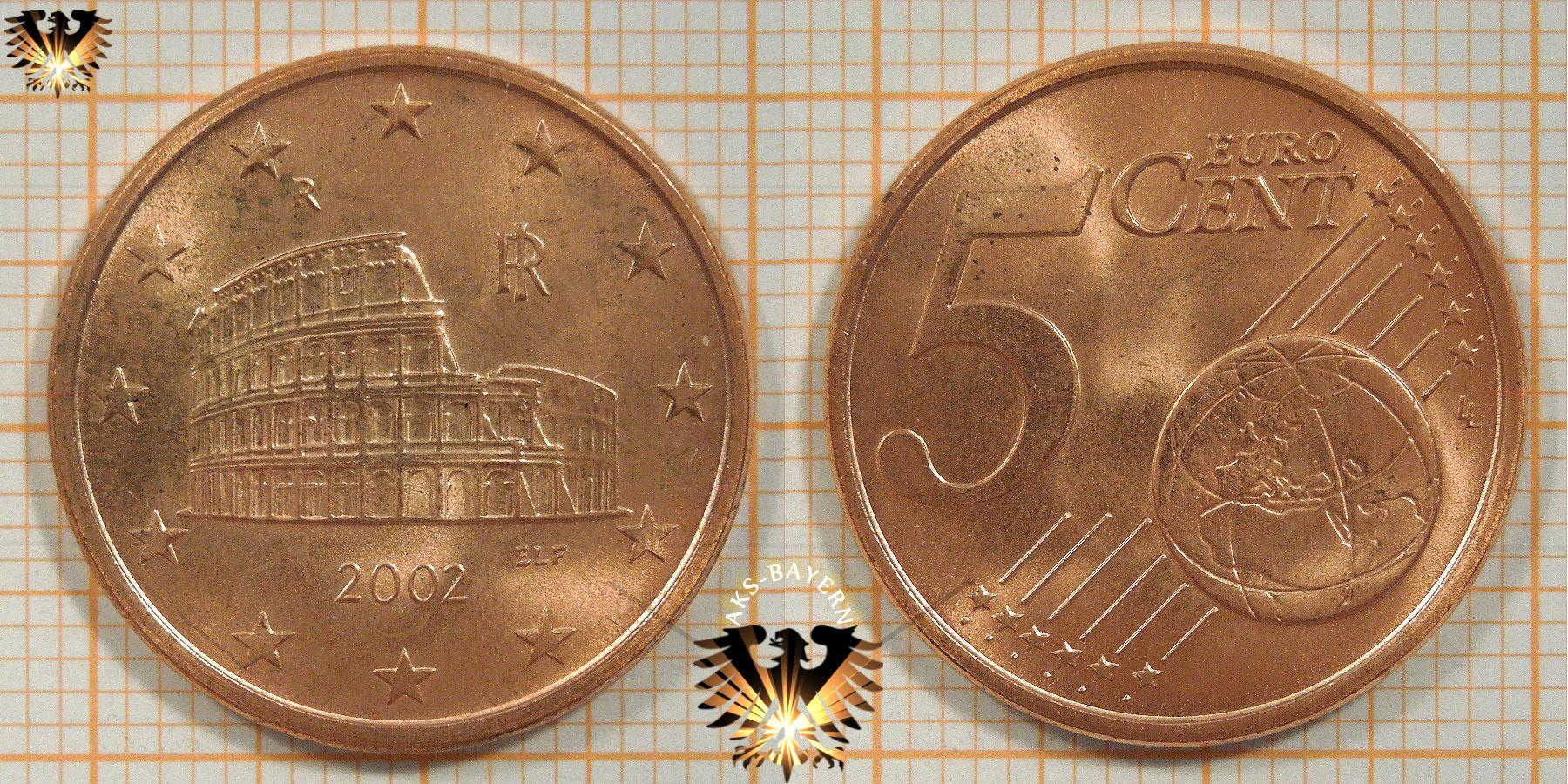 5 Euro Cent Italien 2002 Nominal