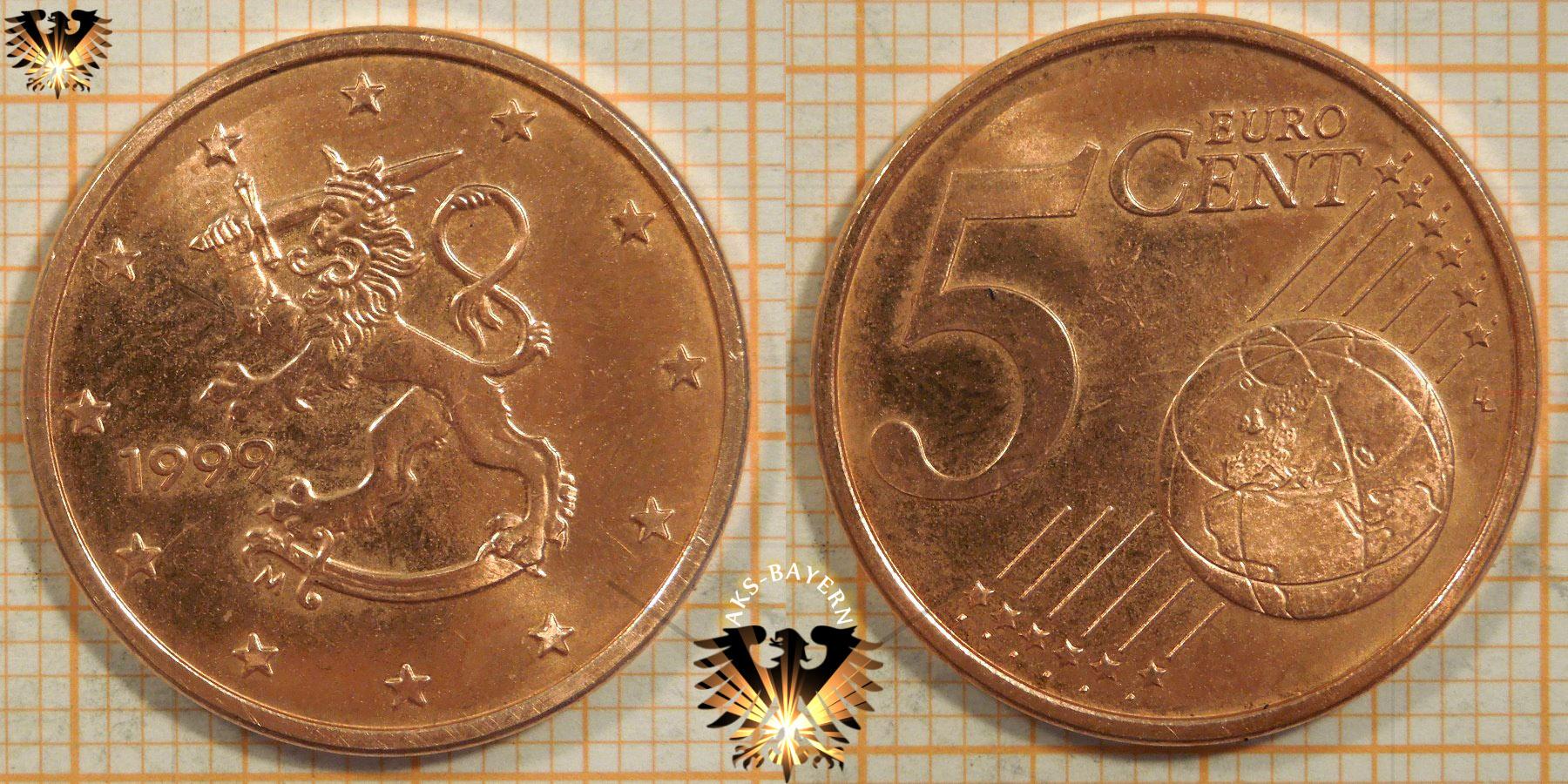5 Euro Cent Finnland 1999 Nominal
