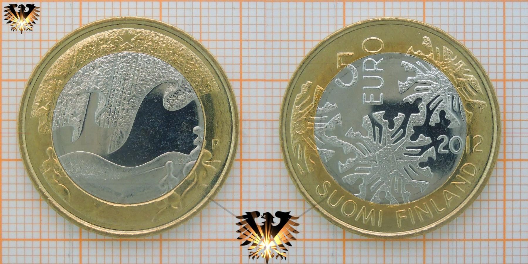 5 euro suomi finland 2012 p schneeflocken winter. Black Bedroom Furniture Sets. Home Design Ideas