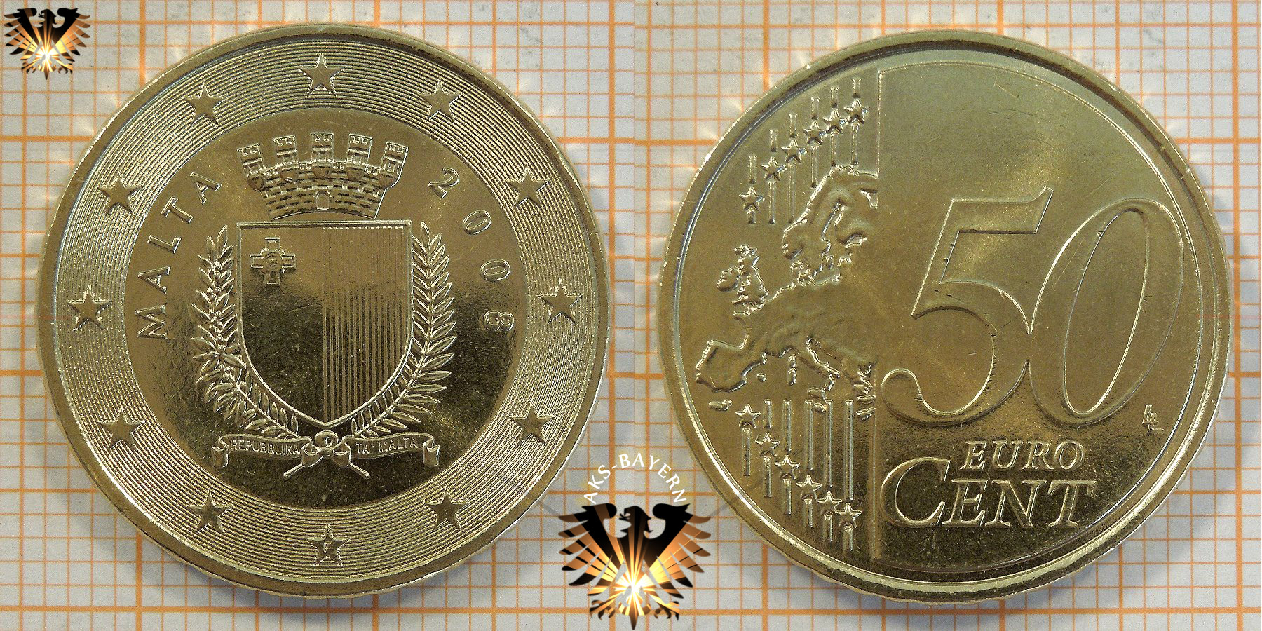 50 Cent Malta 2008 Wert