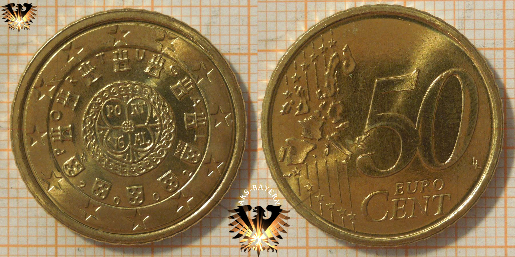 50 Euro Cent Portugal 2002 Nominal