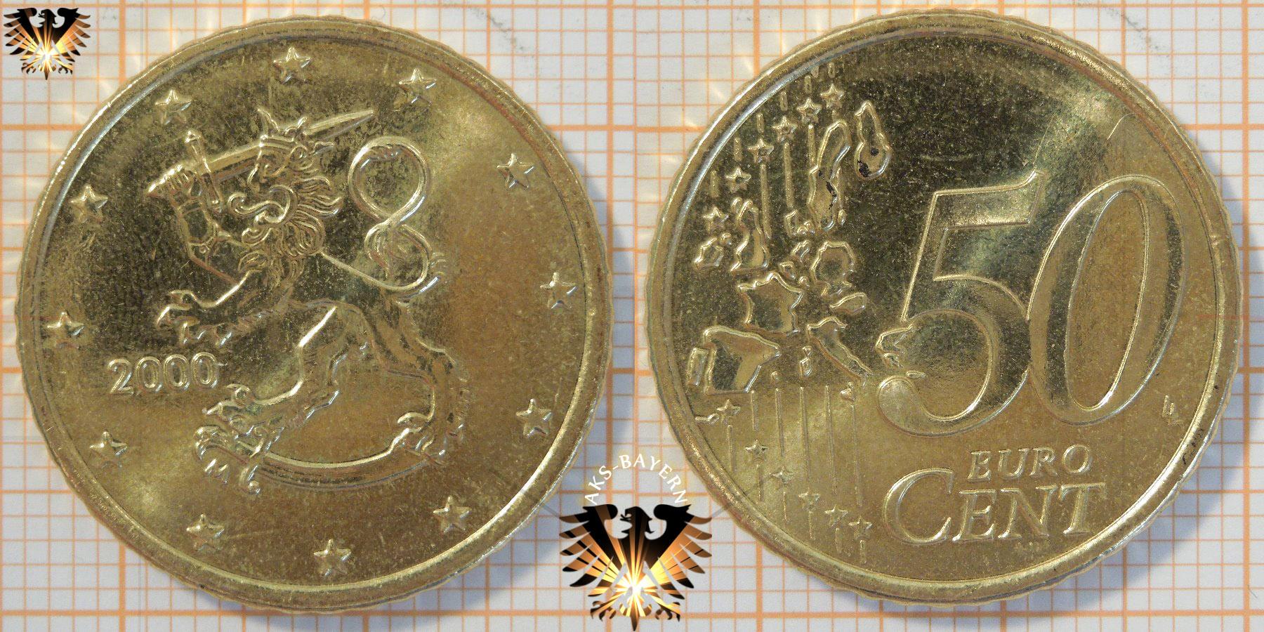 50 Euro Cent Finnland 2000 Nominal