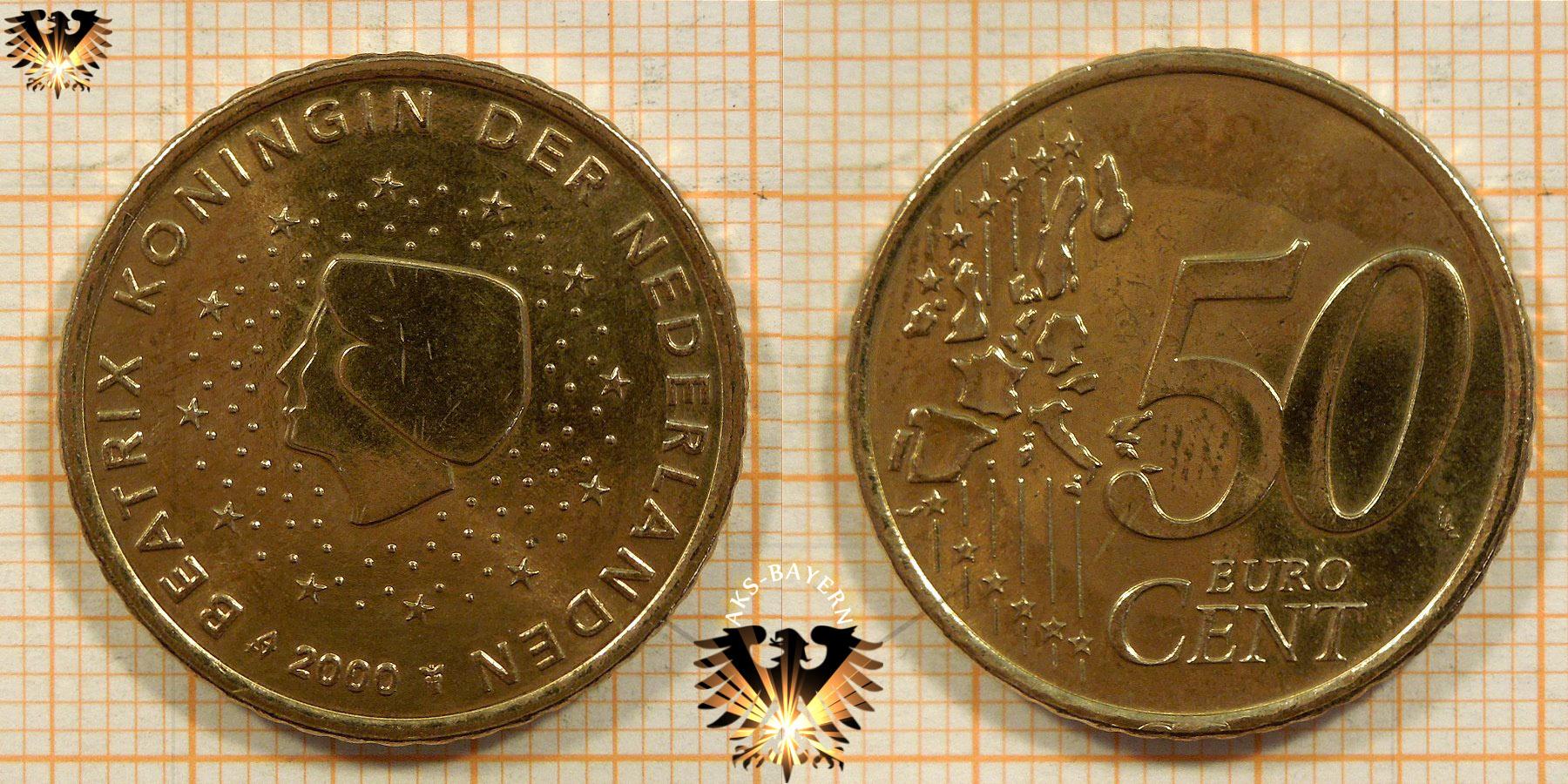 50 Euro Cent Niederlande 2000 Nominal