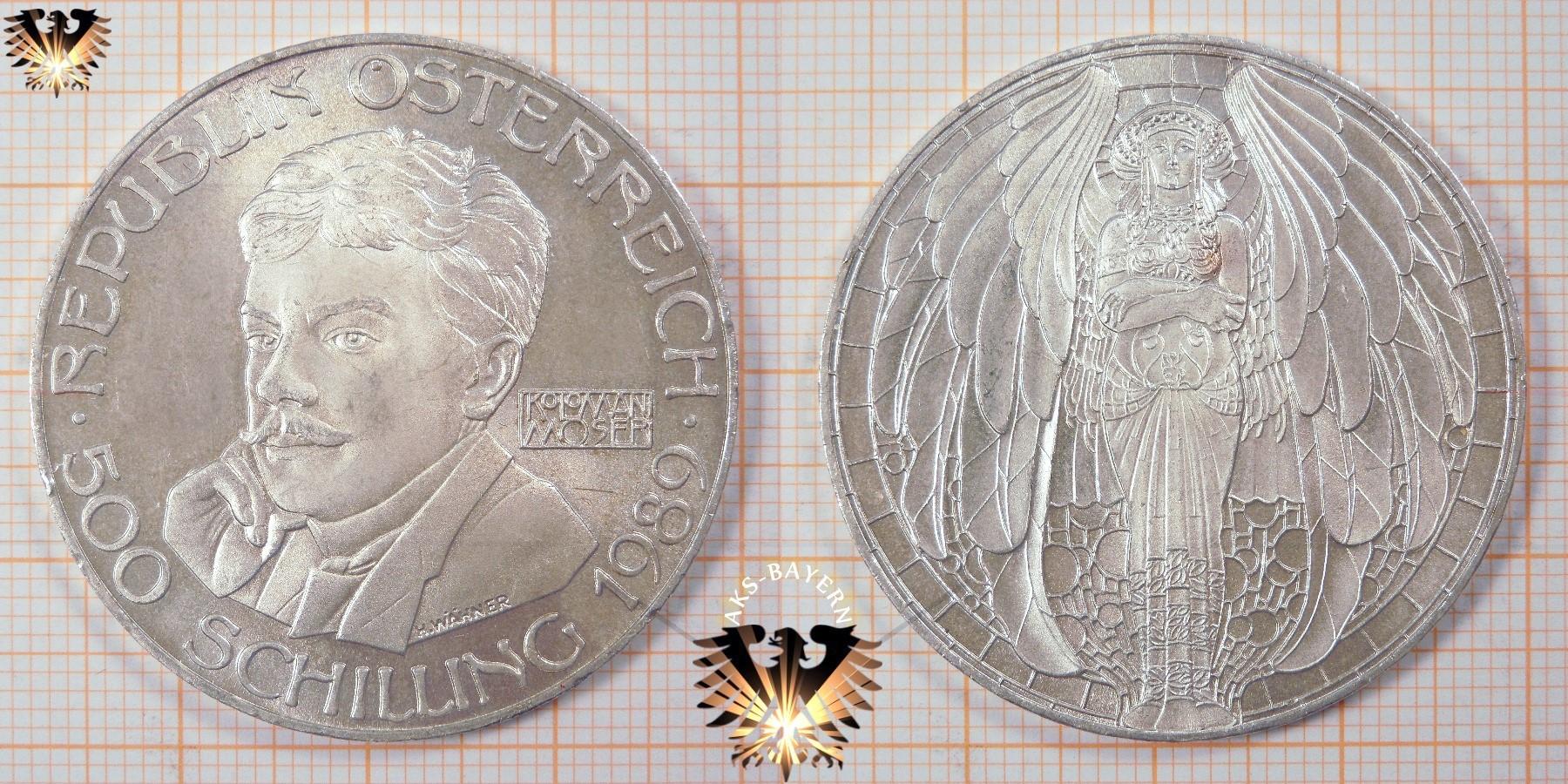 500 Schilling 1989 Koloman Moser Die Kunst Silbermünze österreich