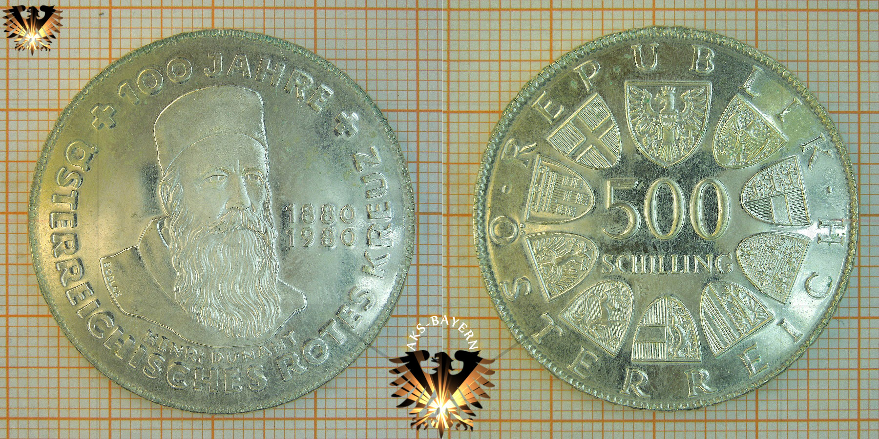 500 Schilling 1980 1000 Jahre Steyr Münze österreich