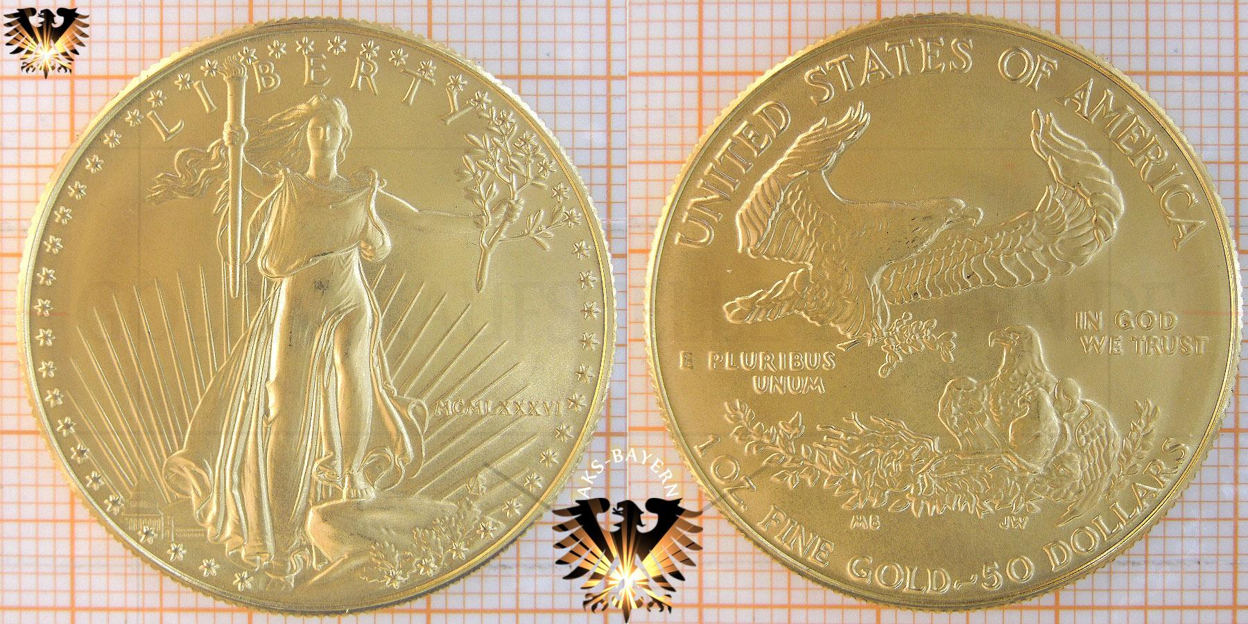 $50Dollars, Liberty, USA, 2006, American Eagle, 1 oz./1 Unze © goldankaufstelle-bayern.de