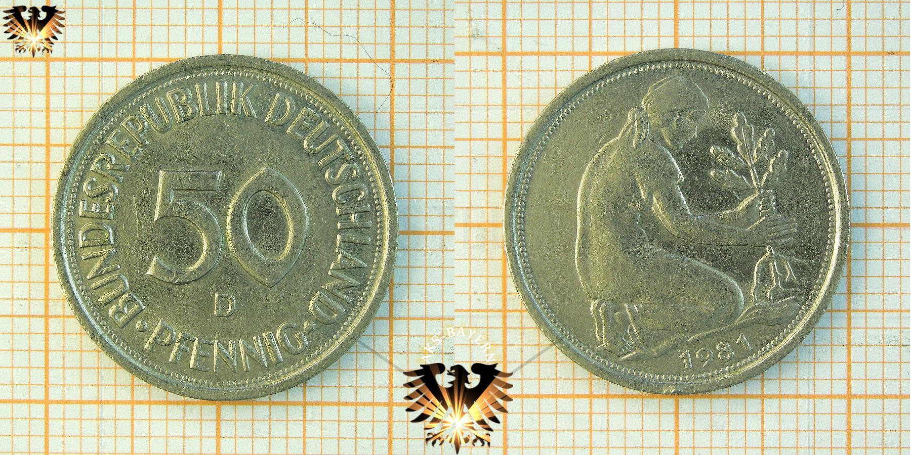 50 Pfennig Bank Deutscher Länder 1950 Und 1949 Nominal