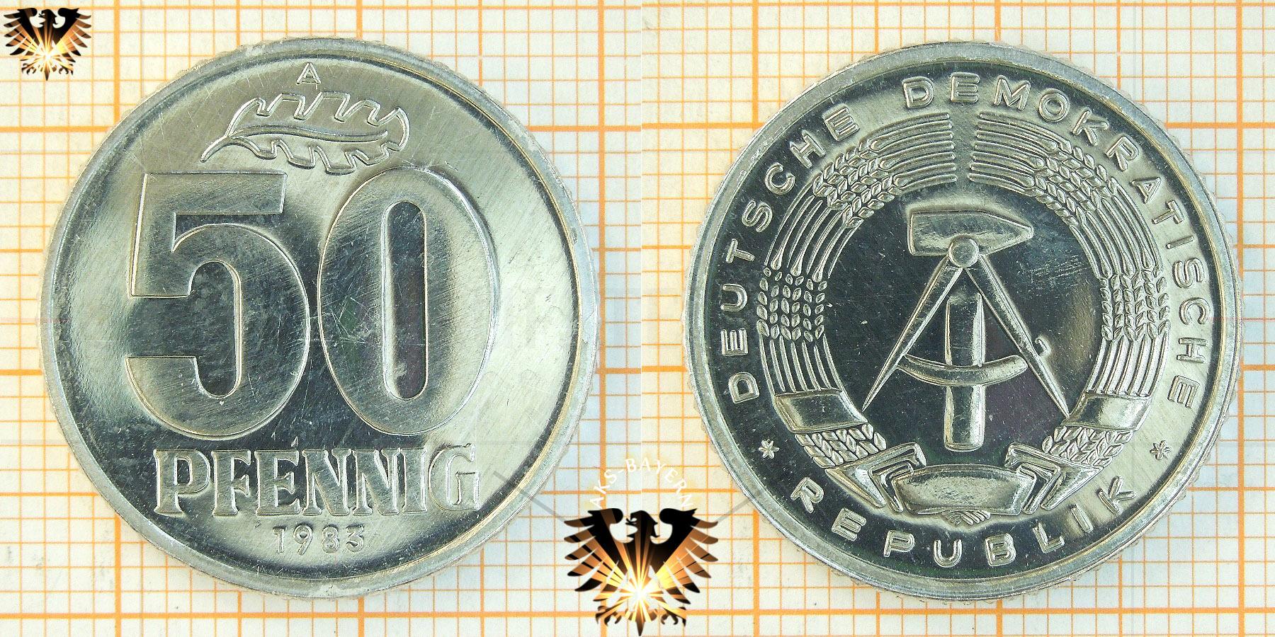 50 Pfennig Münze Brd Nominal 1950 Bis 2001