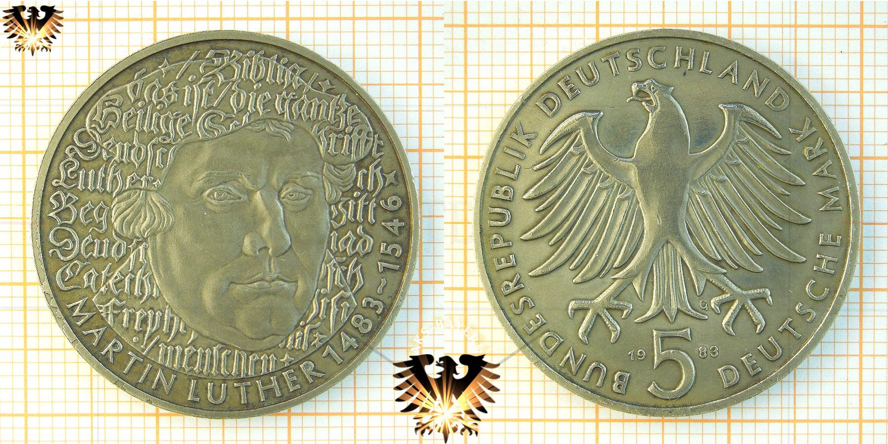 5 Dm Brd 1983 G Martin Luther 1483 1546 Plus Bilder Vom