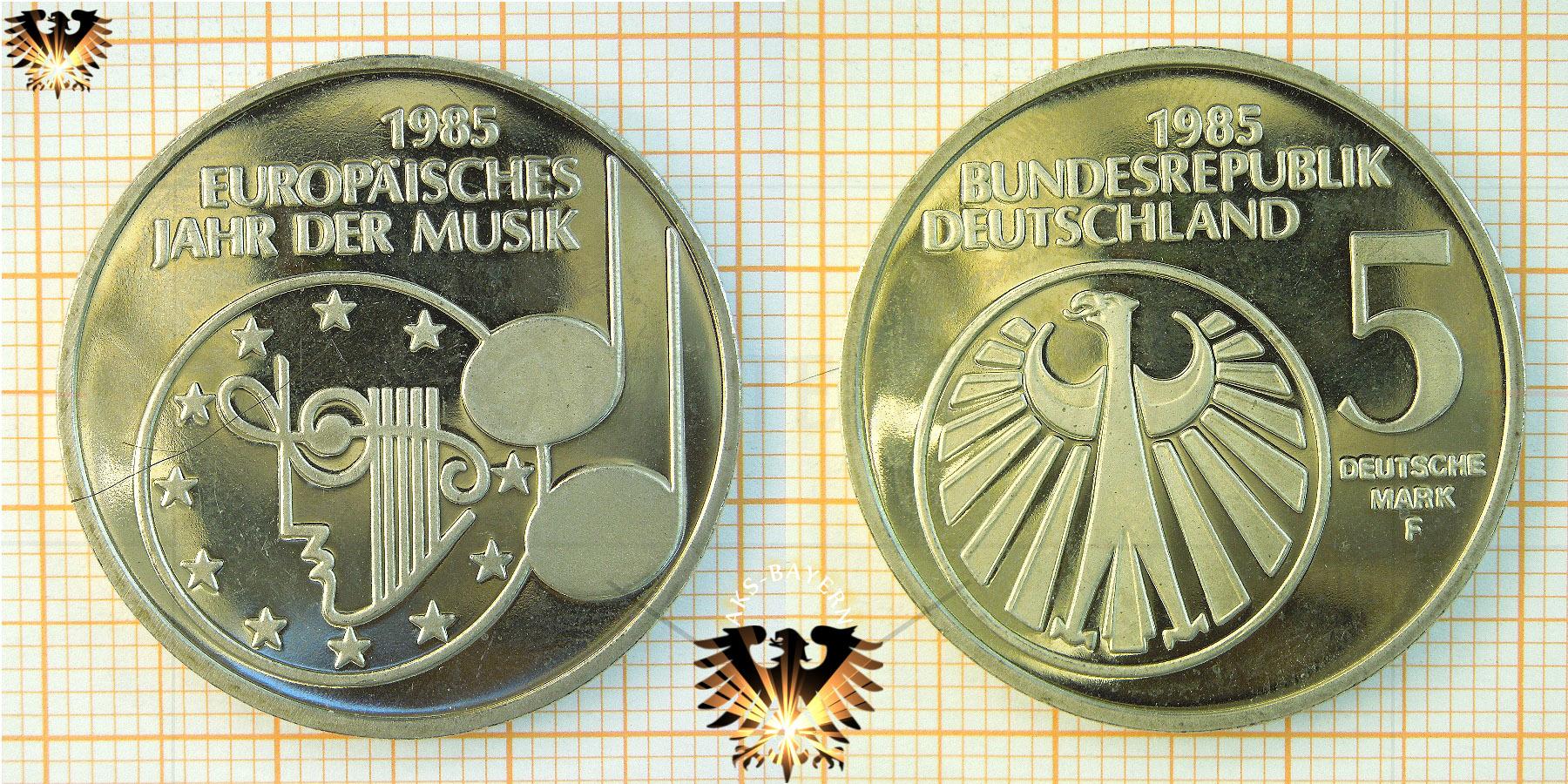 5 Dm Brd 1985 F Europäisches Jahr Der Musik Mit Bildern