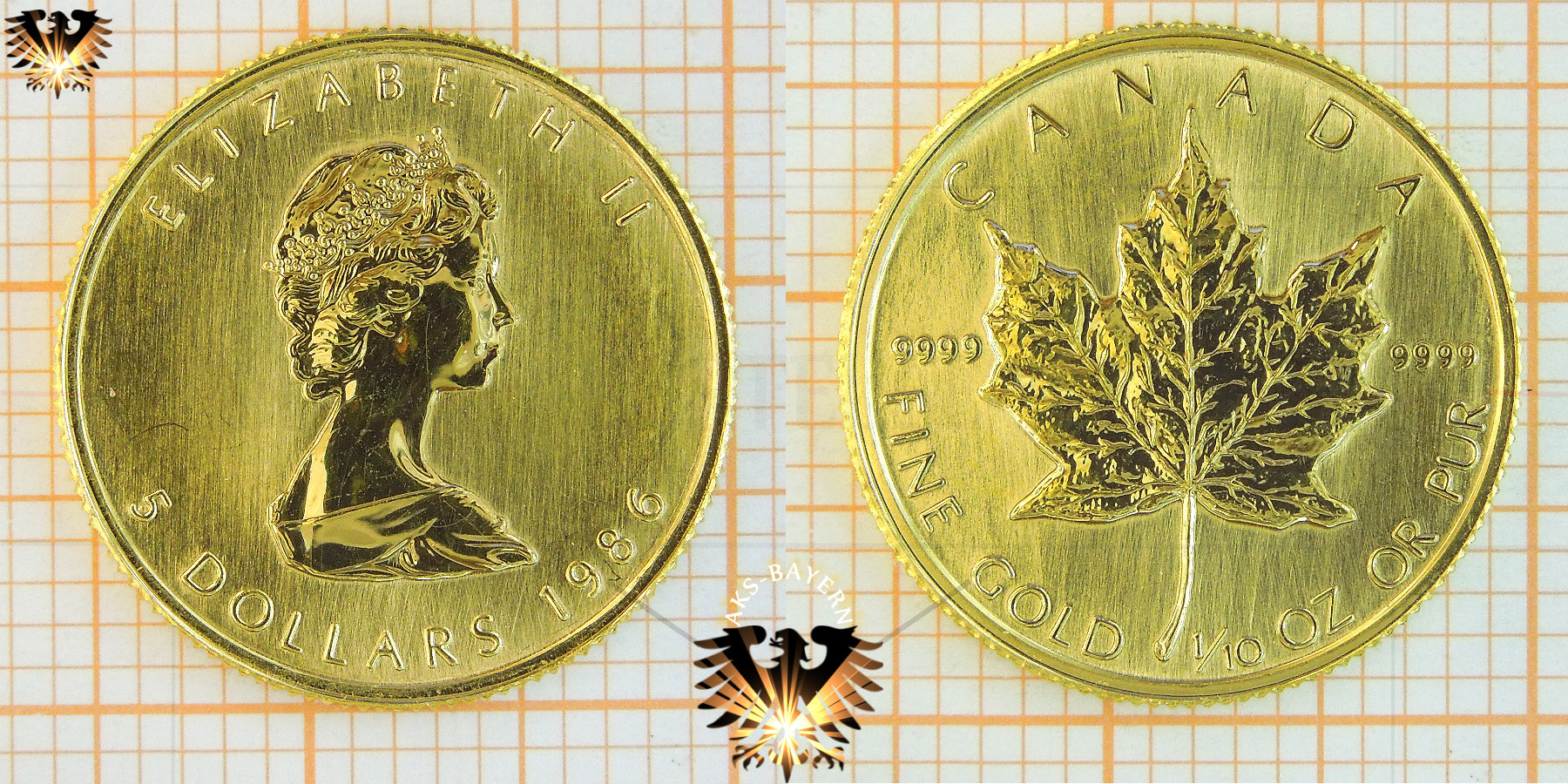 1 oz canadian maple leaf coin