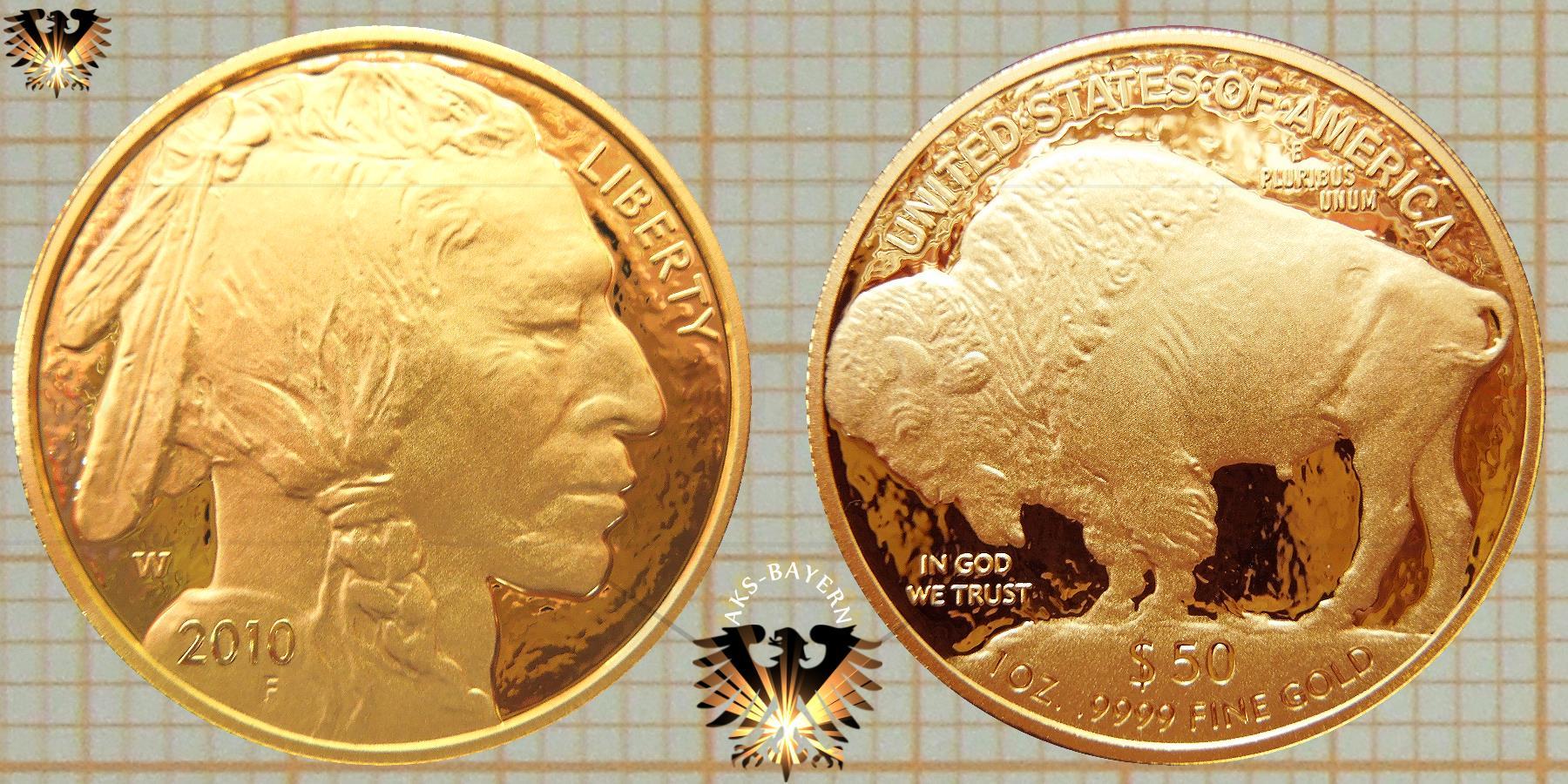 American Buffalo | USA 50$ Goldmünze - Kaufen Verkaufen Preise © goldankaufstelle-bayern.de