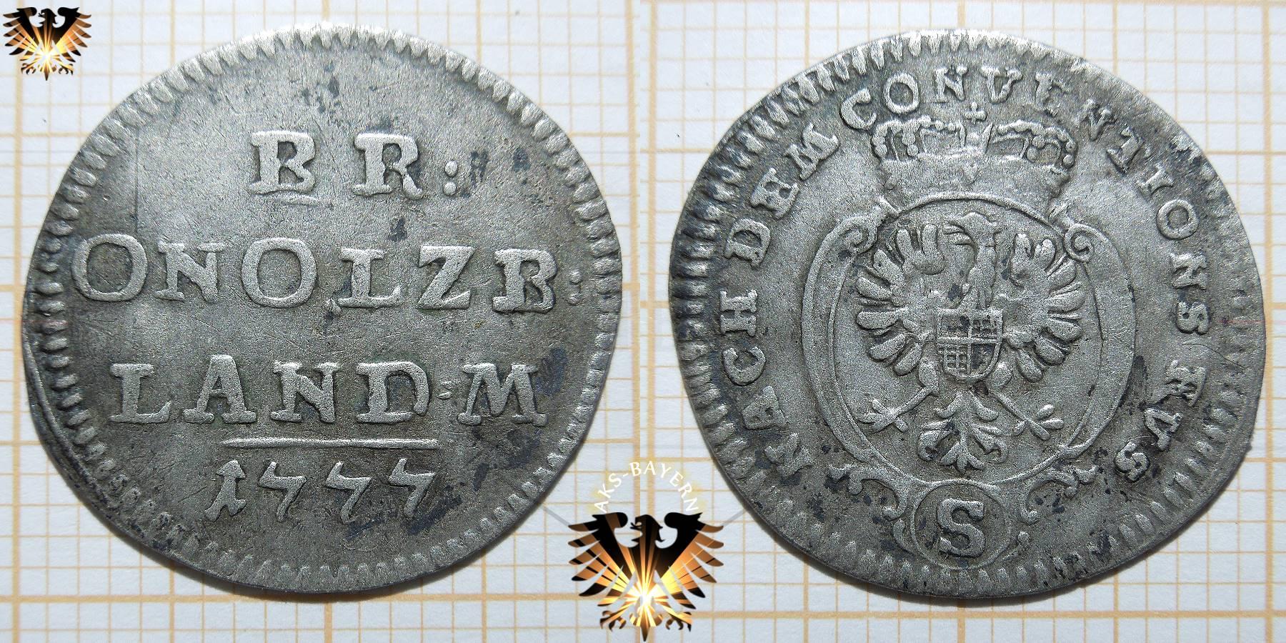 Brandenburg Ansbach 1777 2 12 Conventionskreuzer