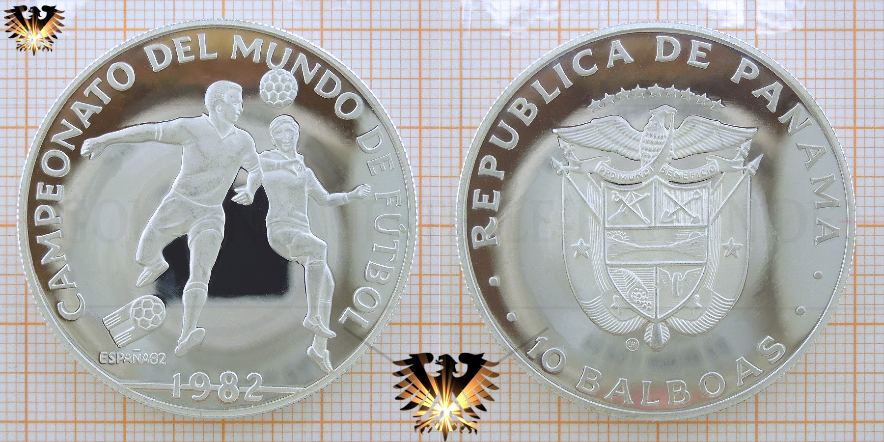 10 Balboas 1982 Panama Zweikampf Campeonato Del Mundo De Fútbol