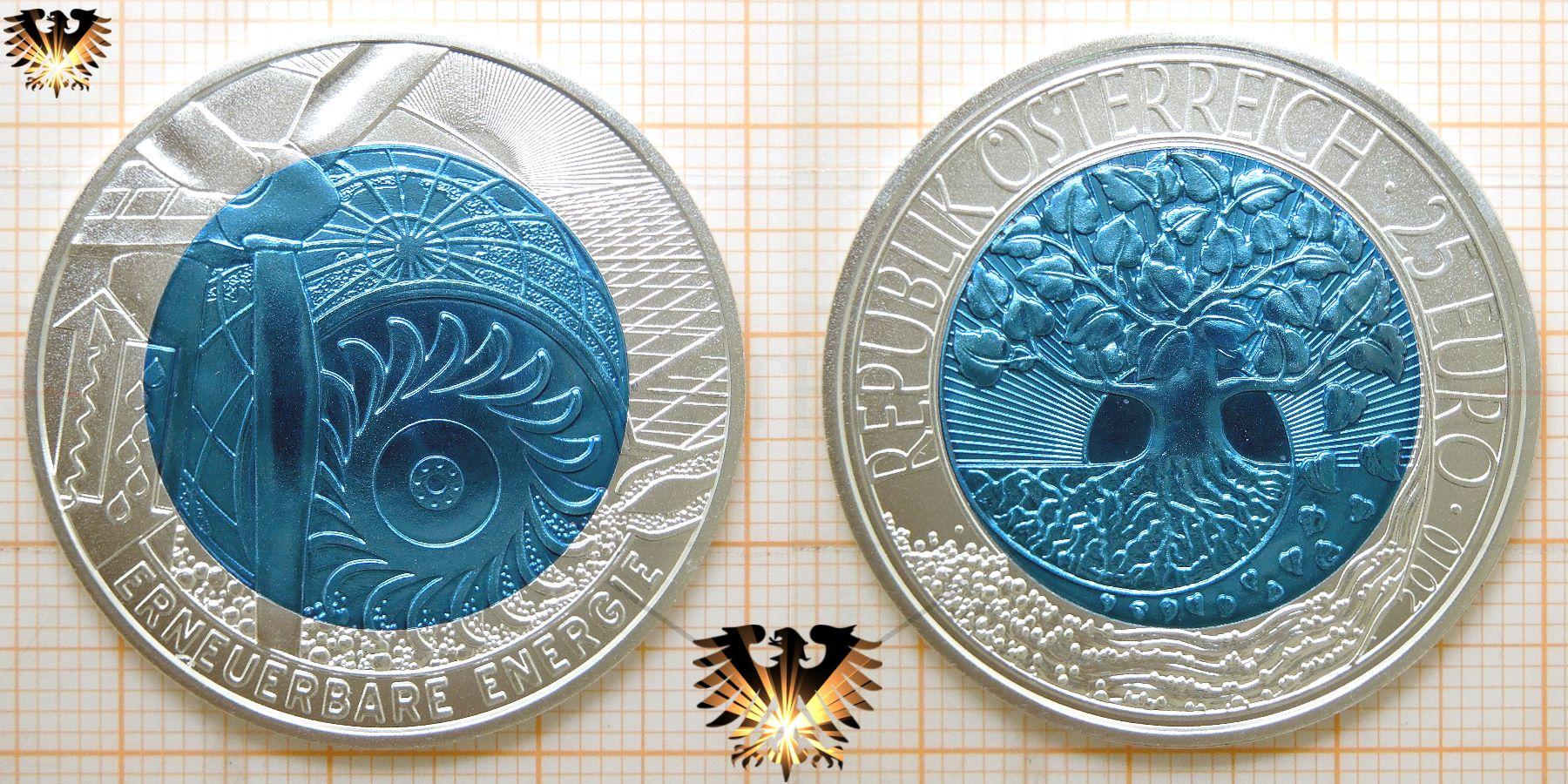 25 Euro Erneuerbare Energie Silber Niob Münze österreich 2010